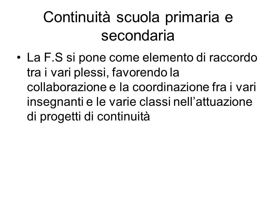 Continuità scuola primaria e secondaria