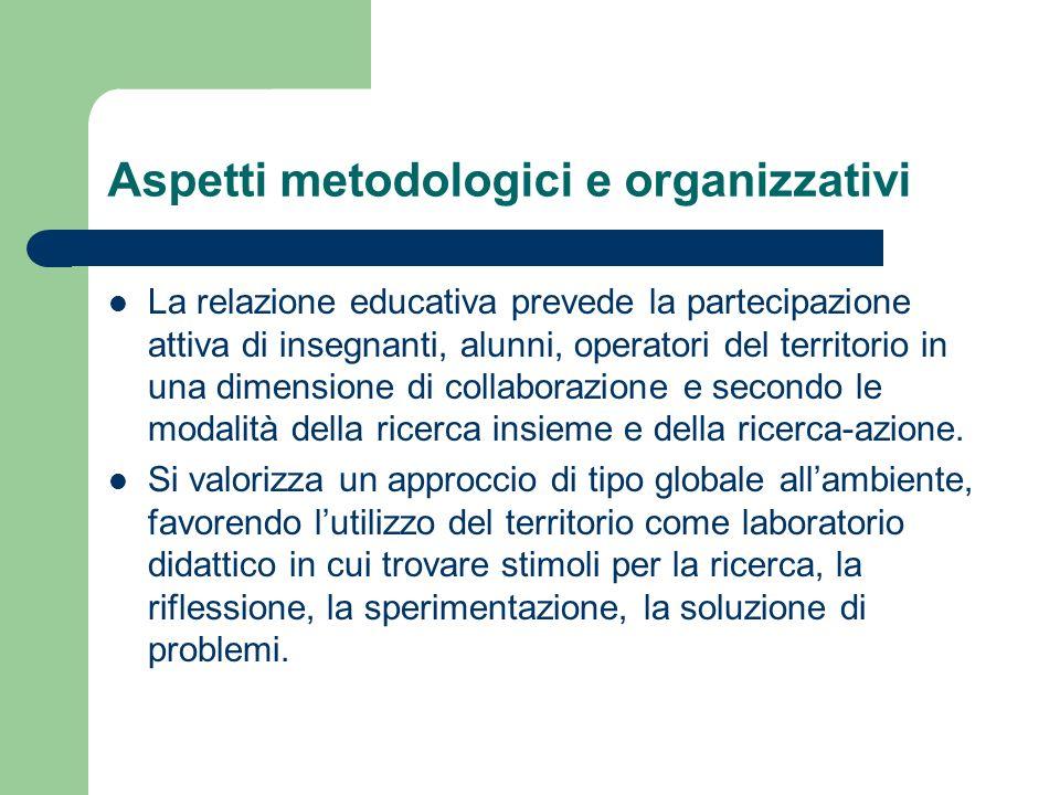 Aspetti metodologici e organizzativi