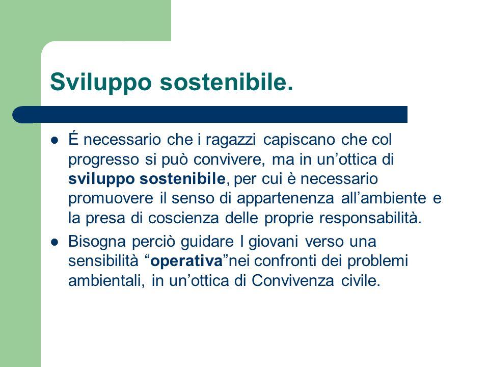 Sviluppo sostenibile.