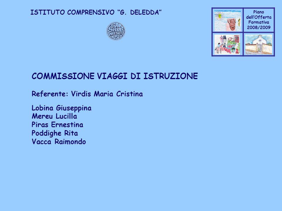 COMMISSIONE VIAGGI DI ISTRUZIONE
