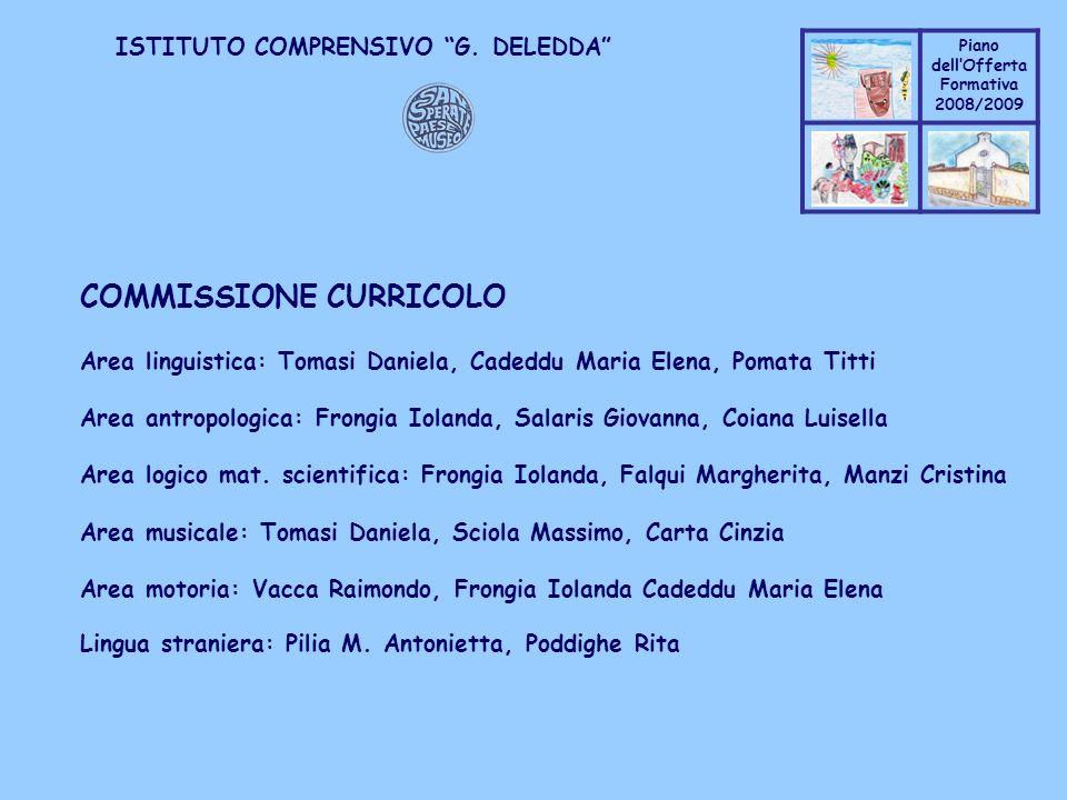 COMMISSIONE CURRICOLO