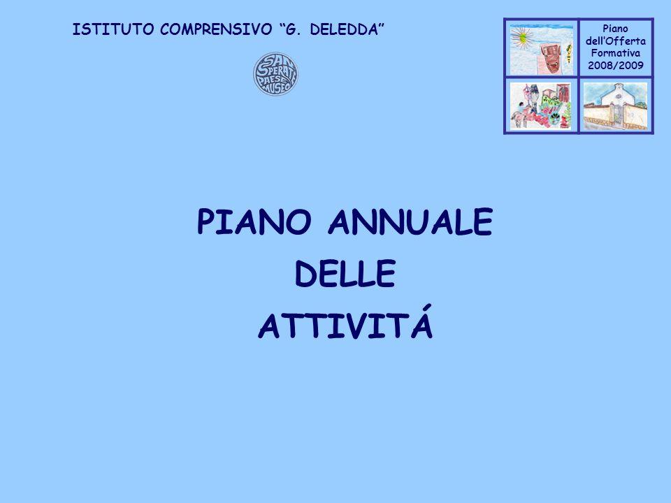 PIANO ANNUALE DELLE ATTIVITÁ