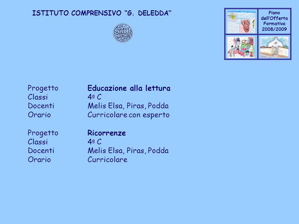 Progetto Educazione alla lettura