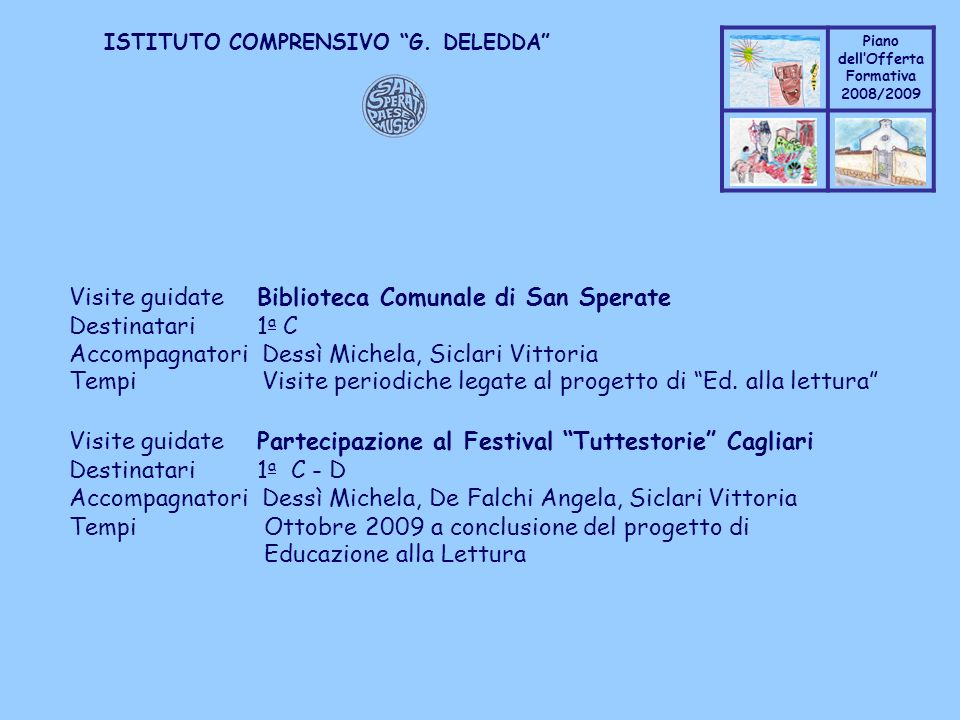 Visite guidate Biblioteca Comunale di San Sperate