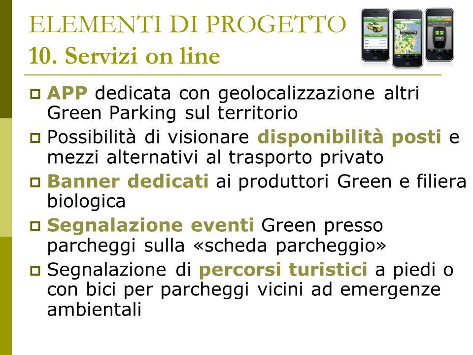 ELEMENTI DI PROGETTO 10. Servizi on line