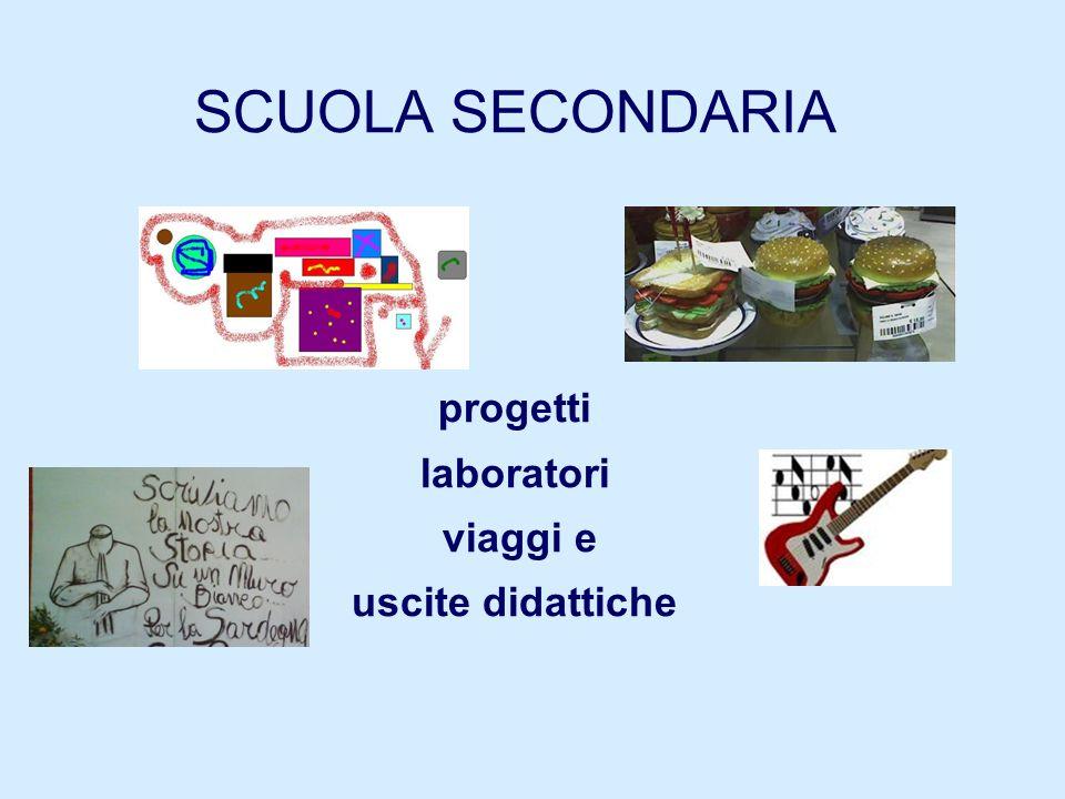 SCUOLA SECONDARIA progetti laboratori viaggi e uscite didattiche