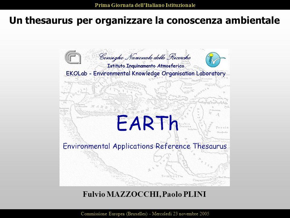Un thesaurus per organizzare la conoscenza ambientale