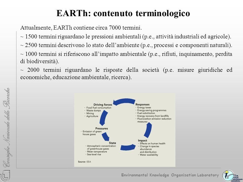 EARTh: contenuto terminologico