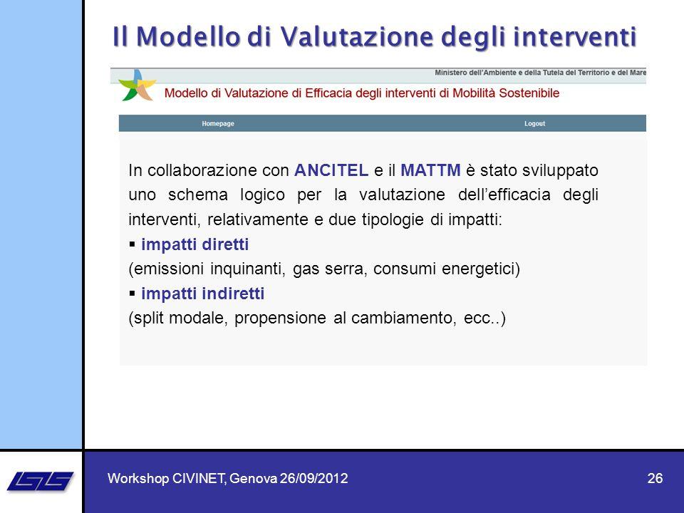 Il Modello di Valutazione degli interventi