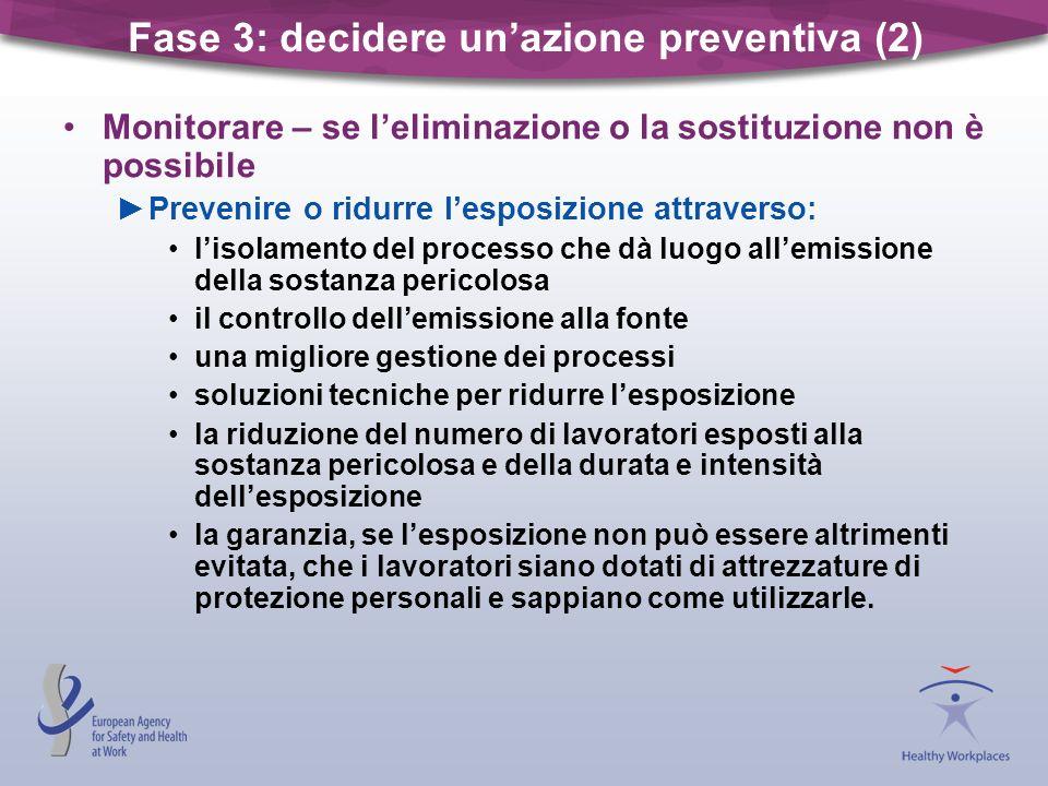 Fase 3: decidere un'azione preventiva (2)