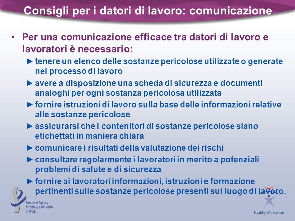 Consigli per i datori di lavoro: comunicazione