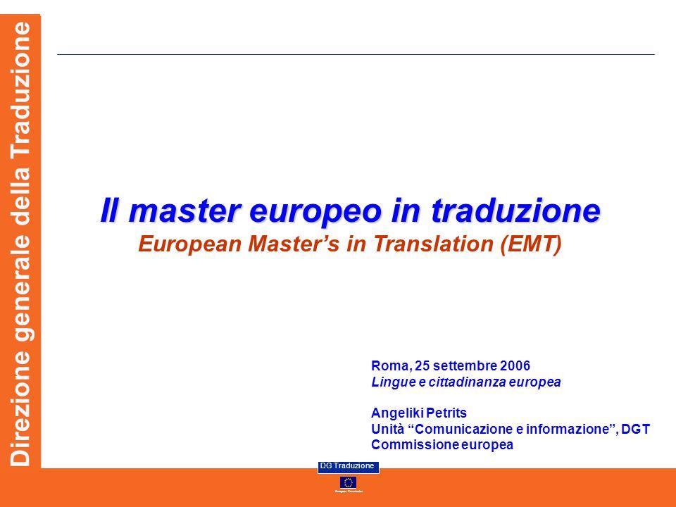 Il master europeo in traduzione European Master's in Translation (EMT)