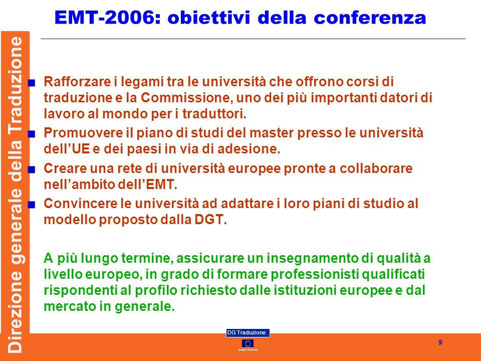 EMT-2006: obiettivi della conferenza