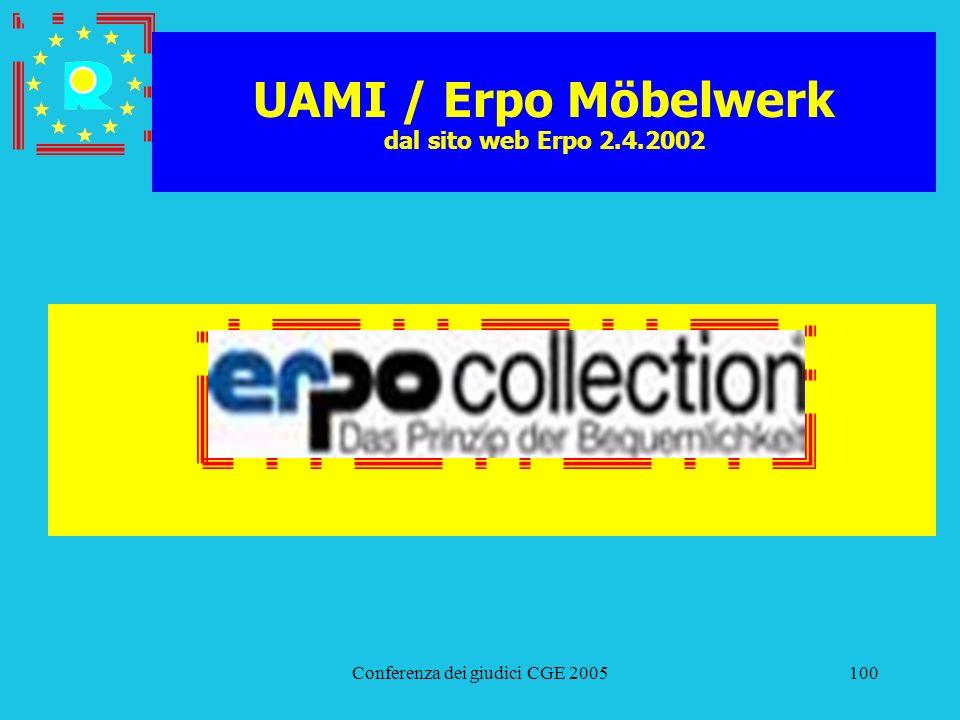 UAMI / Erpo Möbelwerk dal sito web Erpo 2.4.2002