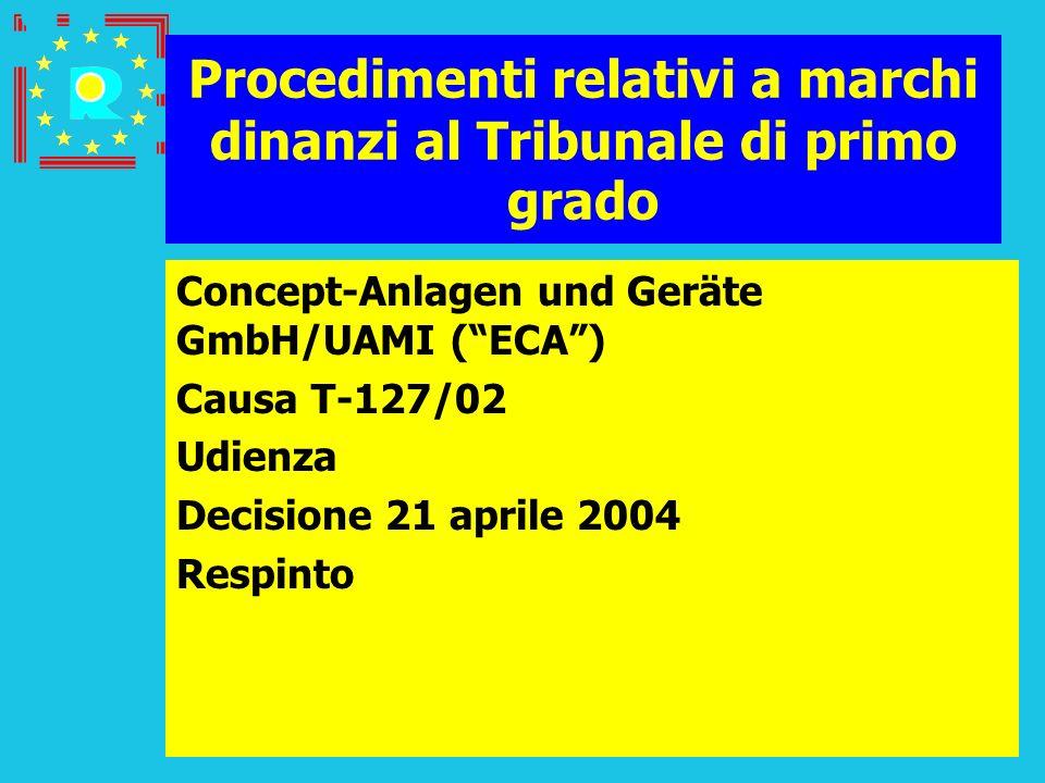 Procedimenti relativi a marchi dinanzi al Tribunale di primo grado