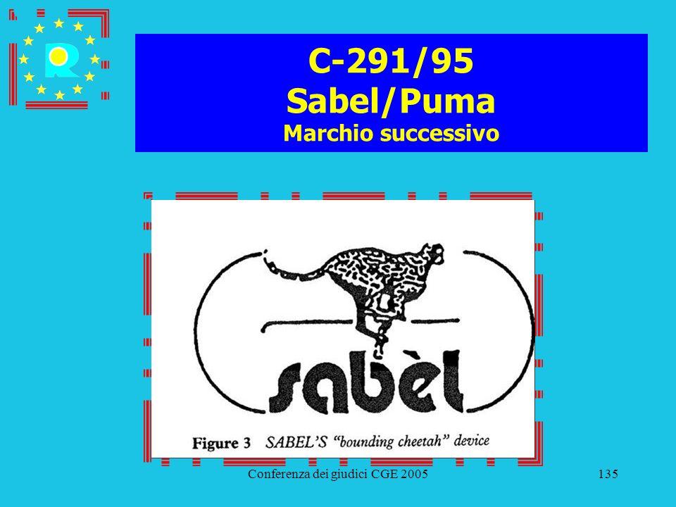 C-291/95 Sabel/Puma Marchio successivo