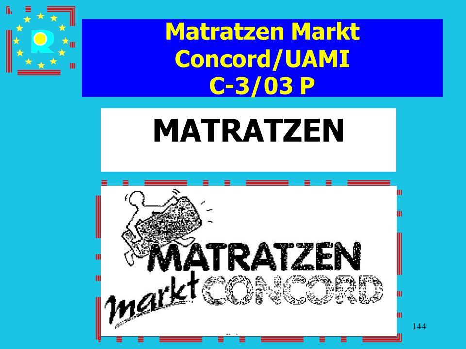 Matratzen Markt Concord/UAMI C-3/03 P