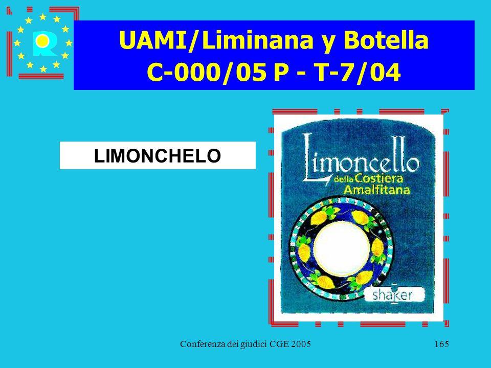 UAMI/Liminana y Botella C-000/05 P - T-7/04