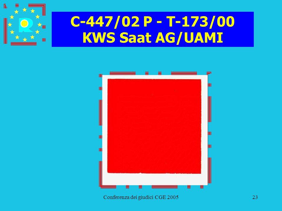 C-447/02 P - T-173/00 KWS Saat AG/UAMI