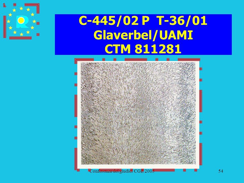 C-445/02 P T-36/01 Glaverbel/UAMI CTM 811281