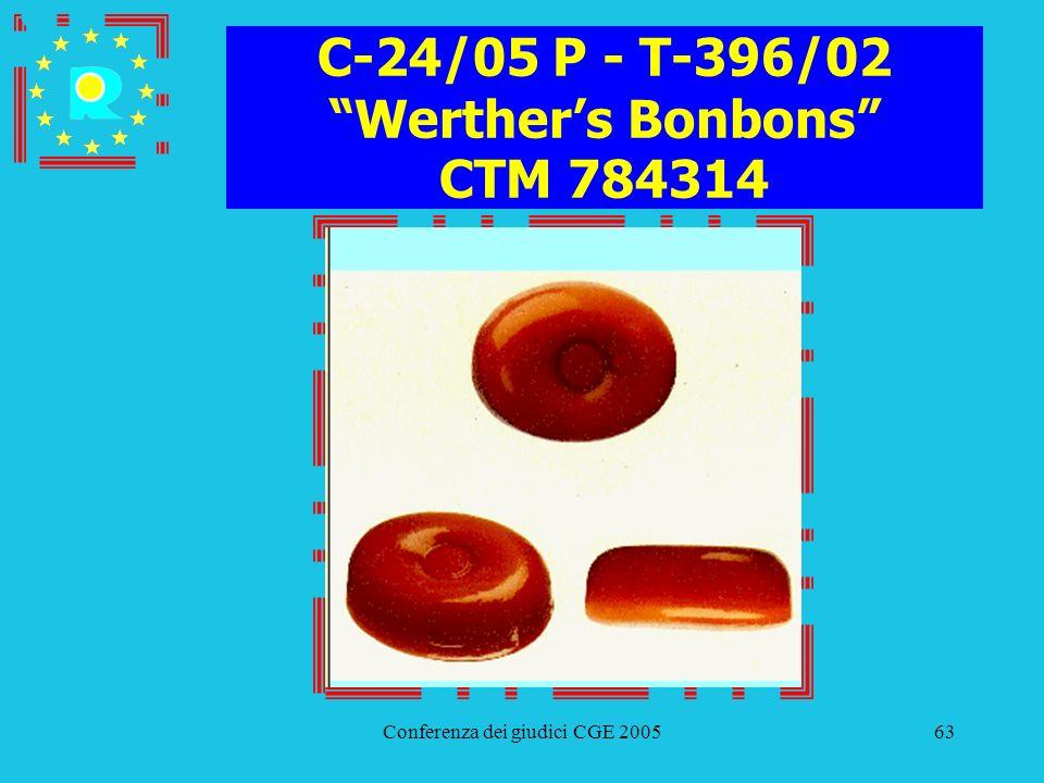 C-24/05 P - T-396/02 Werther's Bonbons CTM 784314