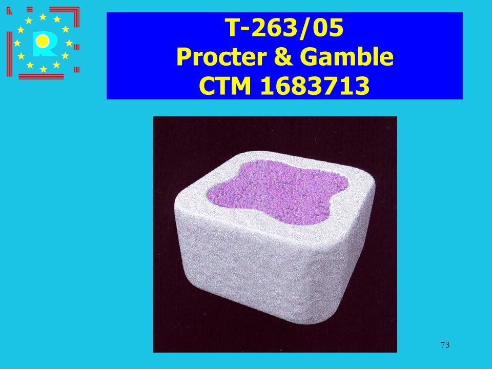 T-263/05 Procter & Gamble CTM 1683713