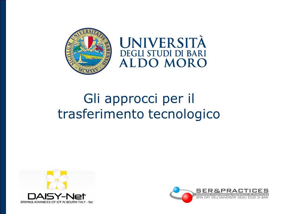 Gli approcci per il trasferimento tecnologico