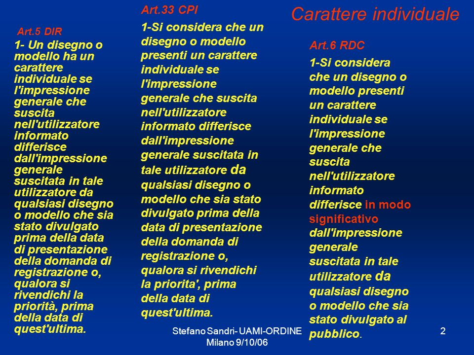 Carattere individuale