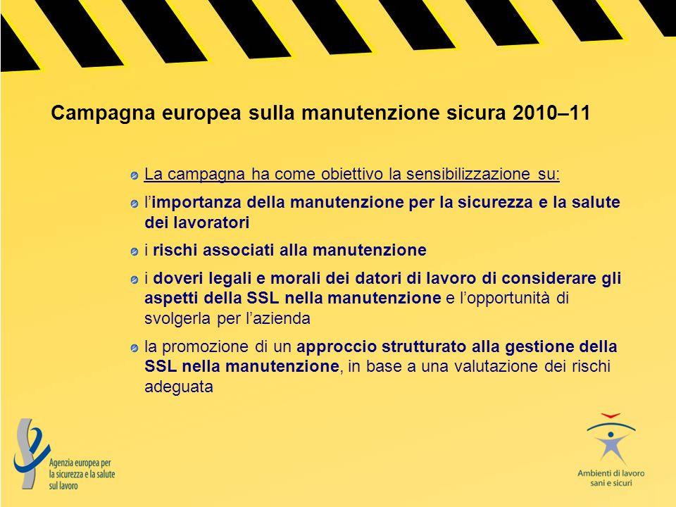 Campagna europea sulla manutenzione sicura 2010–11