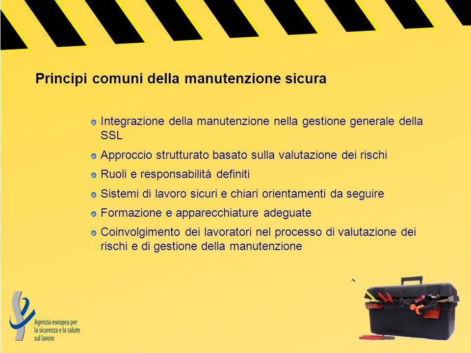 Principi comuni della manutenzione sicura