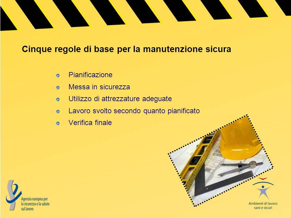 Cinque regole di base per la manutenzione sicura