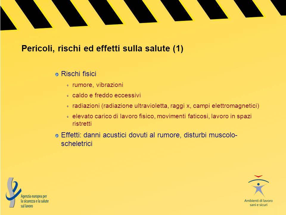 Pericoli, rischi ed effetti sulla salute (1)