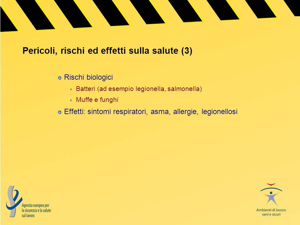 Pericoli, rischi ed effetti sulla salute (3)
