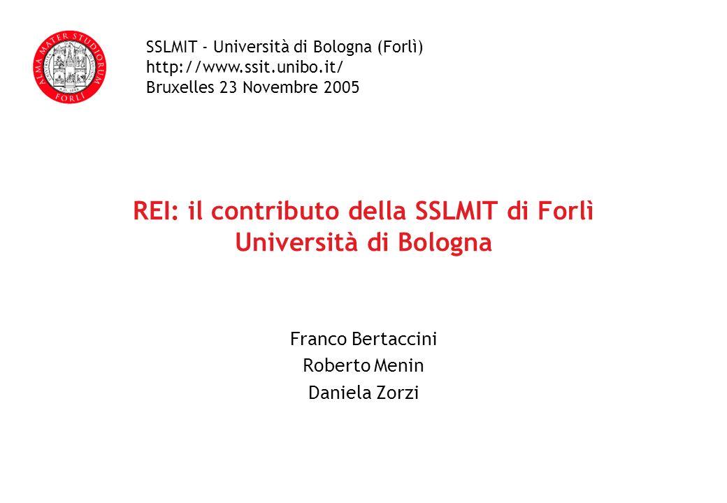 REI: il contributo della SSLMIT di Forlì Università di Bologna