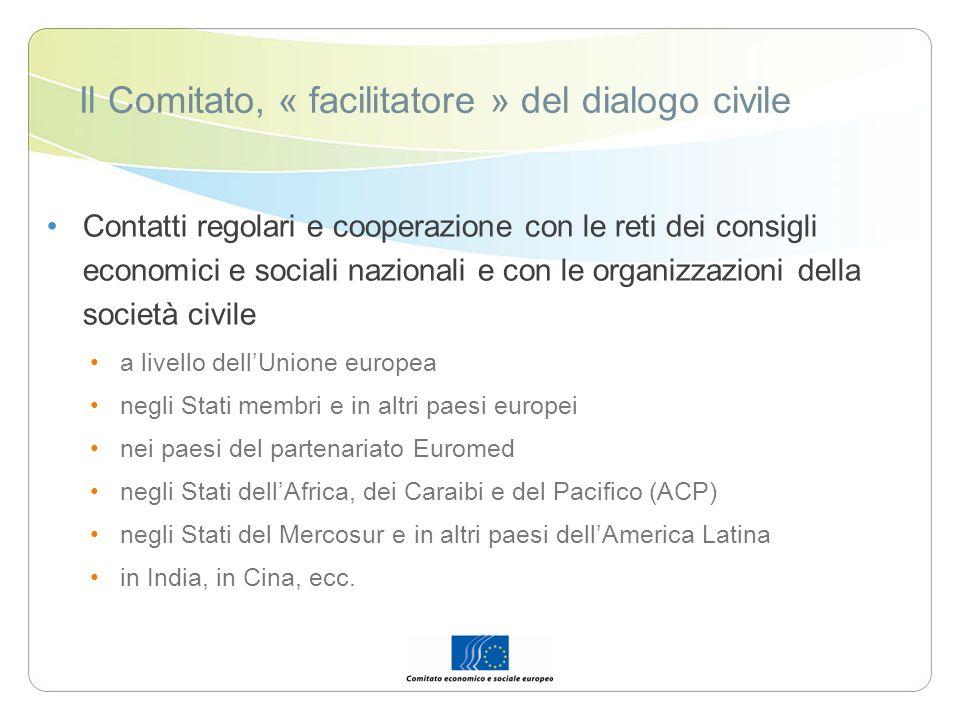 Il Comitato, « facilitatore » del dialogo civile