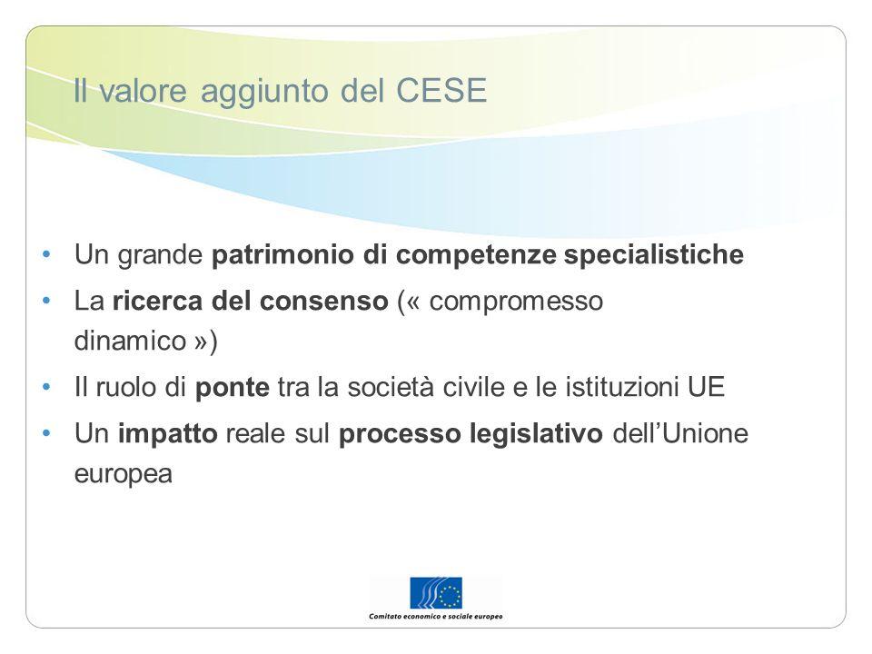Il valore aggiunto del CESE