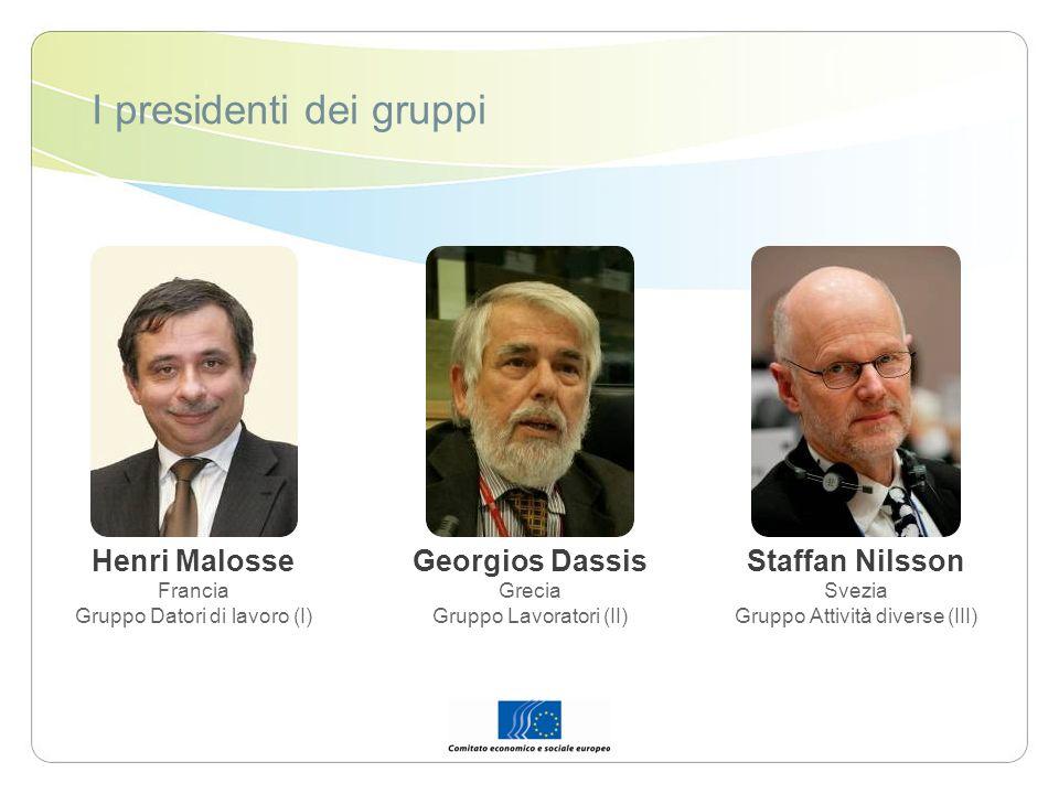 I presidenti dei gruppi