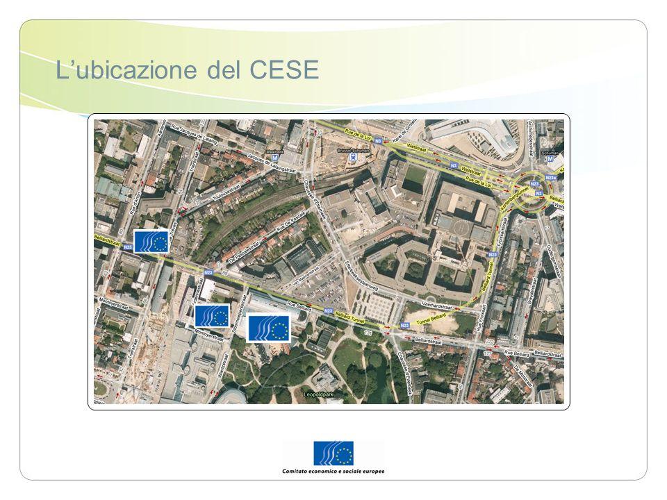 L'ubicazione del CESE