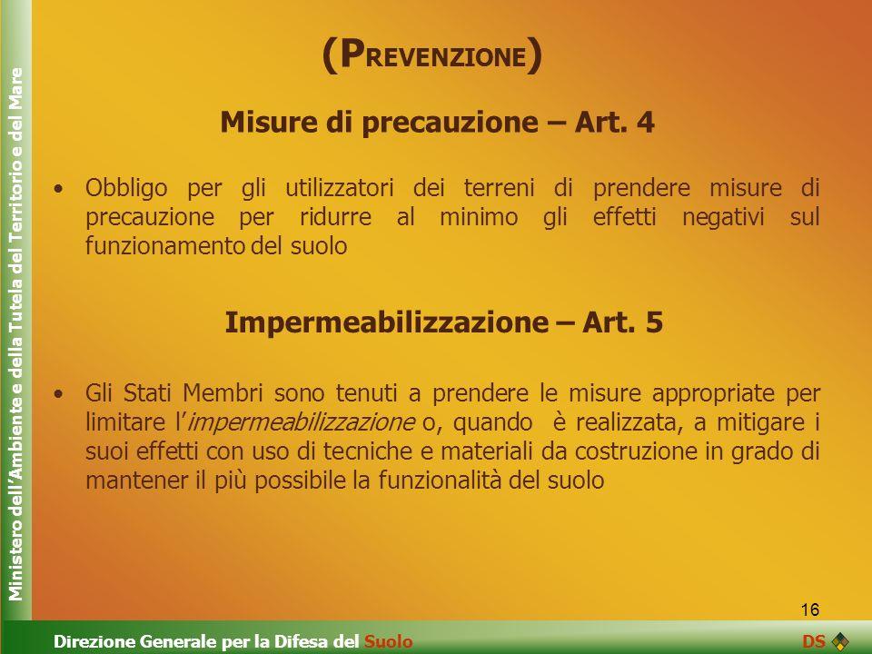 Misure di precauzione – Art. 4