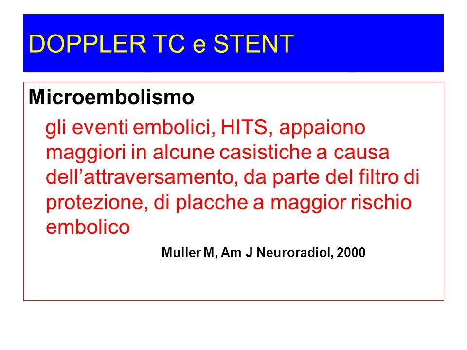 DOPPLER TC e STENT Microembolismo