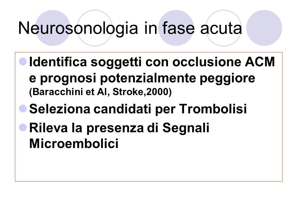 Neurosonologia in fase acuta