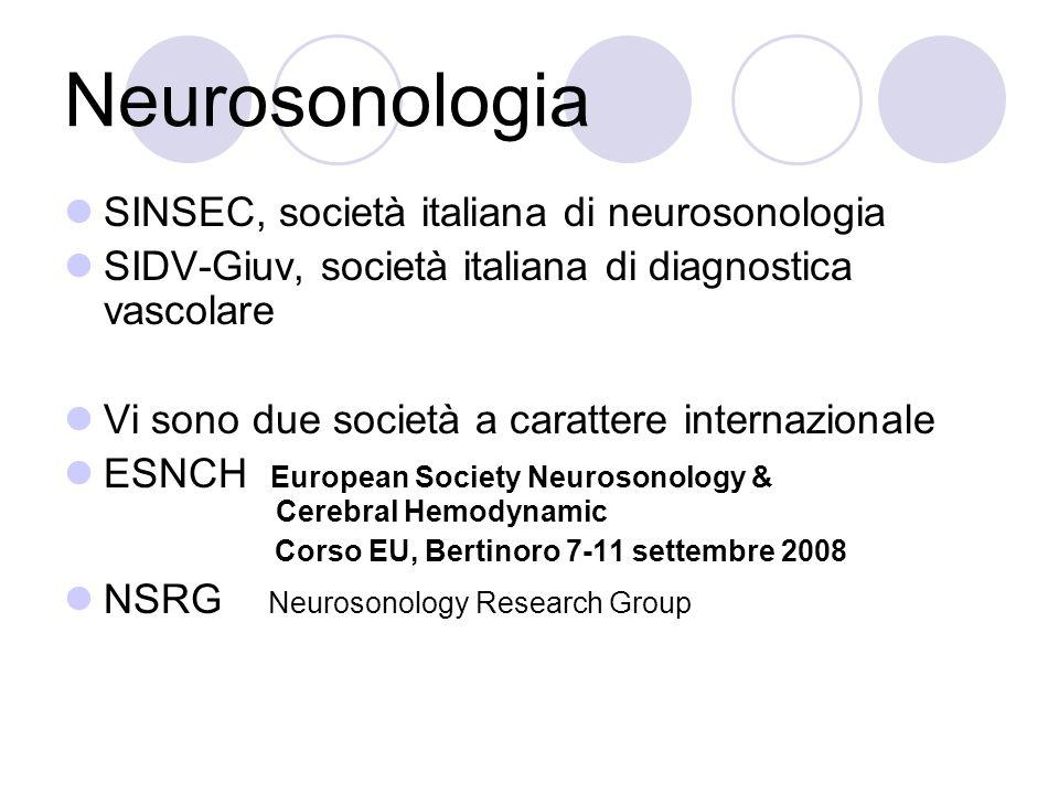 Neurosonologia SINSEC, società italiana di neurosonologia