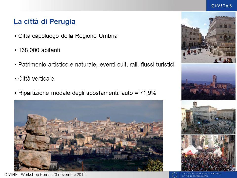La città di Perugia Città capoluogo della Regione Umbria
