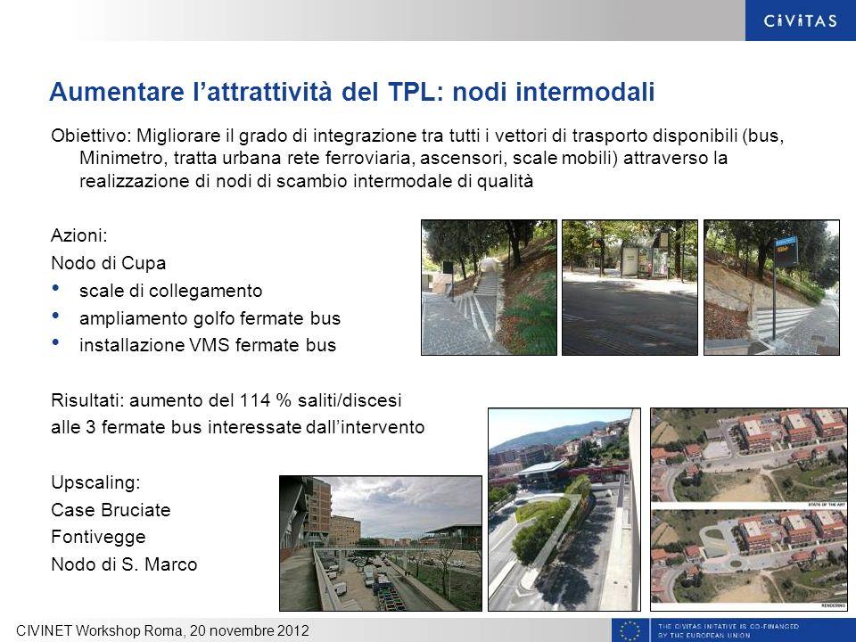 Aumentare l'attrattività del TPL: nodi intermodali