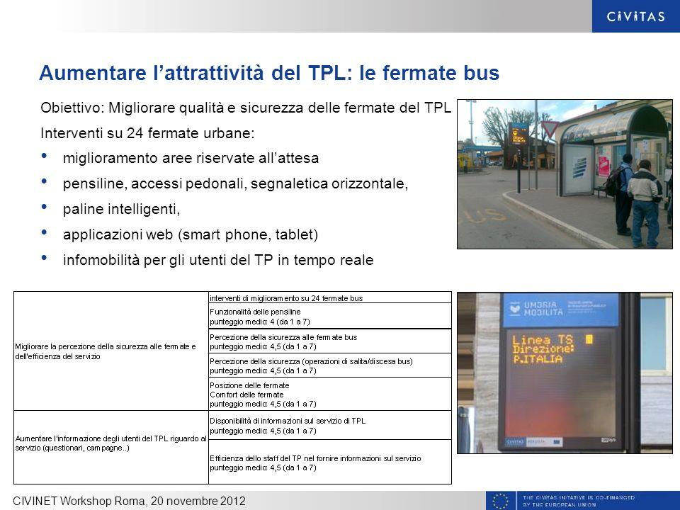 Aumentare l'attrattività del TPL: le fermate bus
