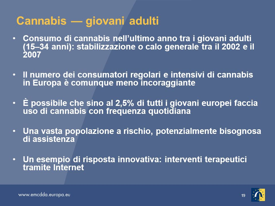 Cannabis — giovani adulti