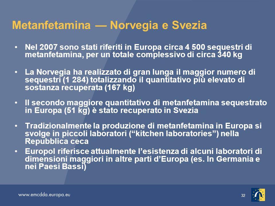 Metanfetamina — Norvegia e Svezia