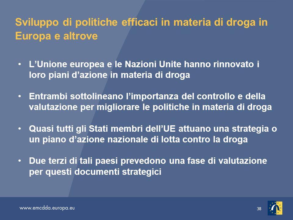 Sviluppo di politiche efficaci in materia di droga in Europa e altrove