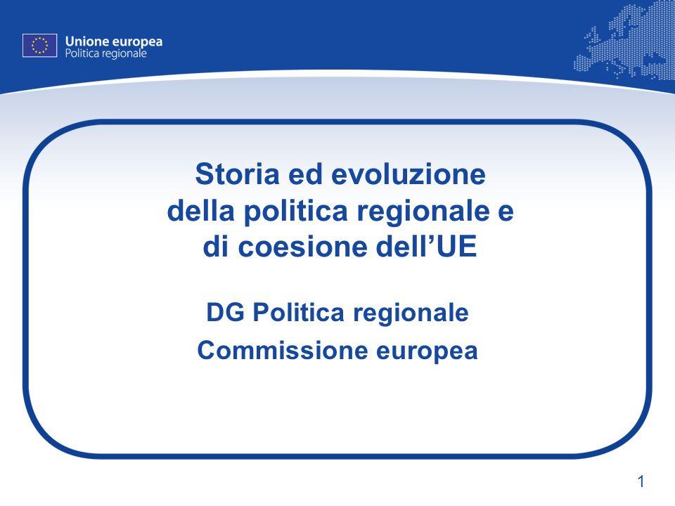 Storia ed evoluzione della politica regionale e di coesione dell'UE