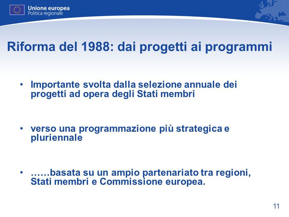 Riforma del 1988: dai progetti ai programmi